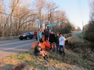 Woods Charter School cleans up Robeson Creek